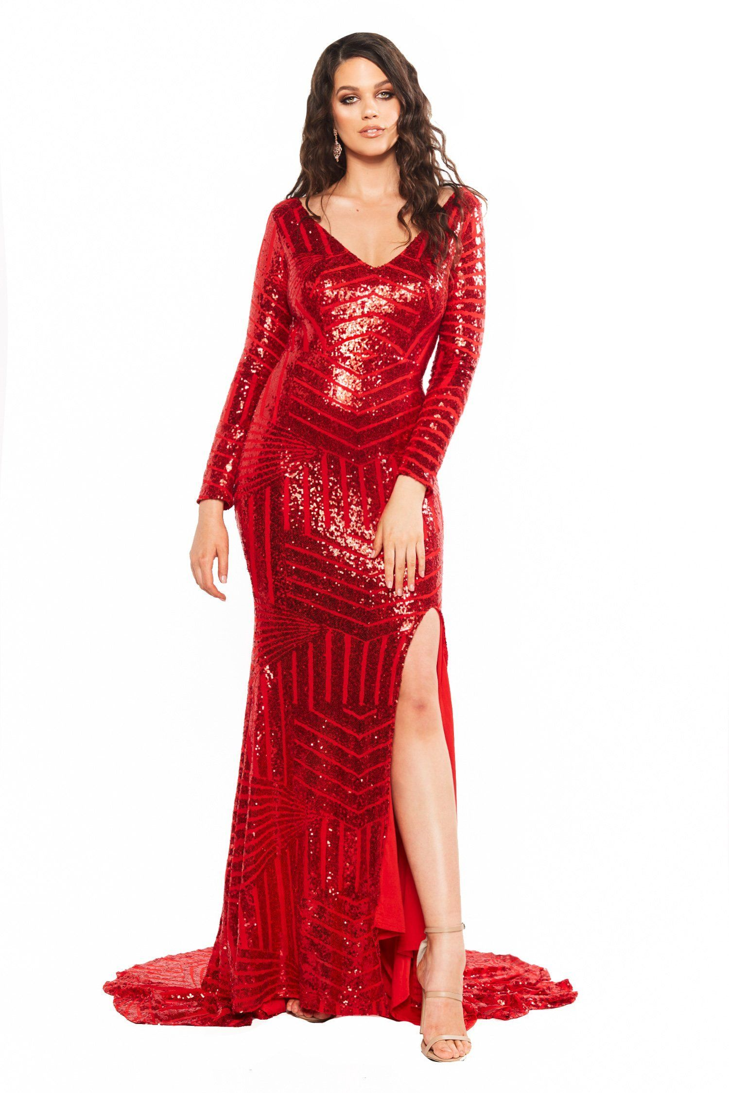 0edcf05a23d A&N Curve Kaya Sequin Gown - Red in 2019 | Curve Dresses | Sequin ...
