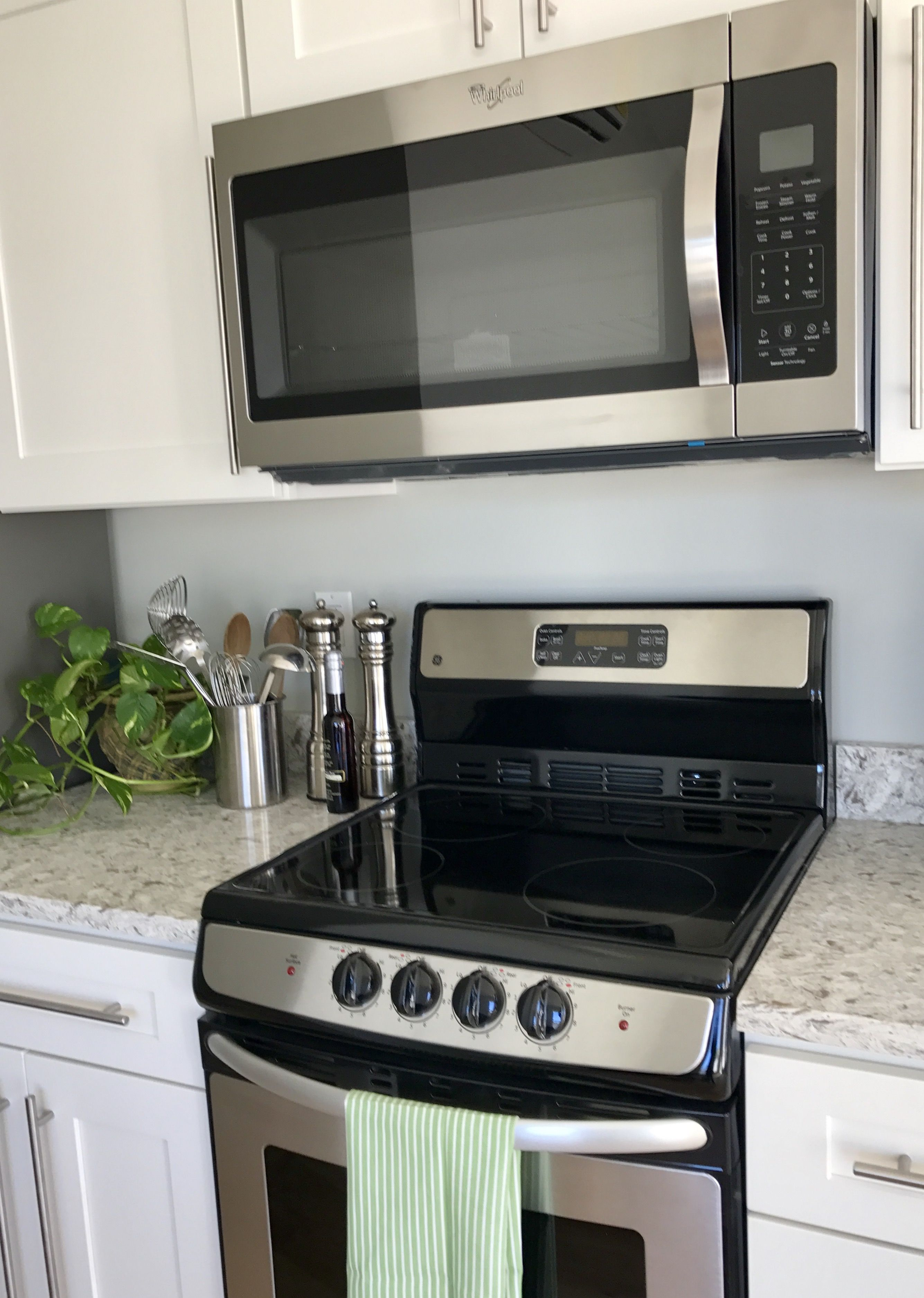 Stainless Steel Appliances Farmhouse Style Kitchen Stainless Steel Microwave Design