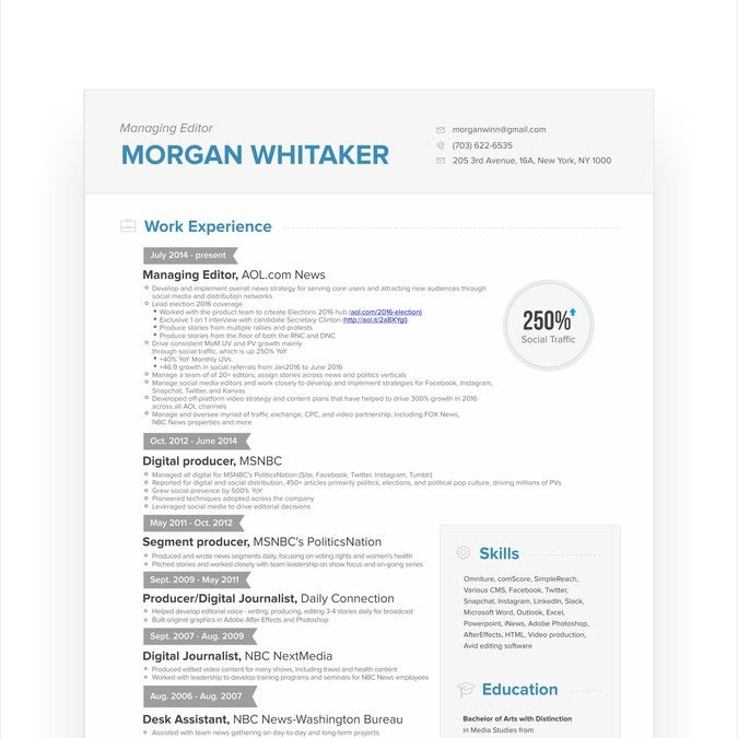 Visually Stunning Resume by hadinsuk Advertising Design - digital journalist resume