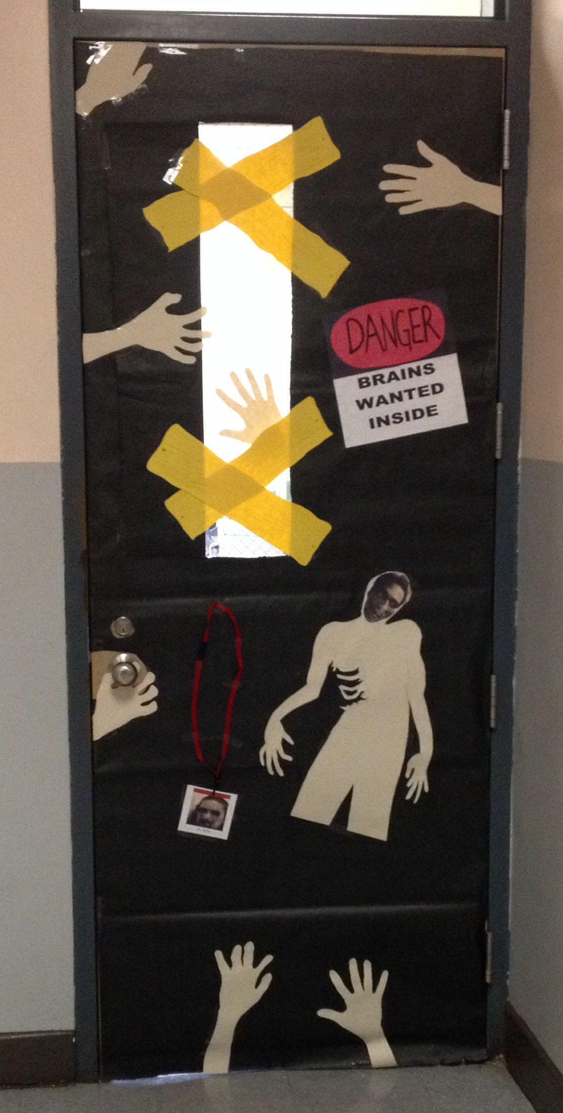 Zombie door decoration | Creative Stuff | Pinterest ...