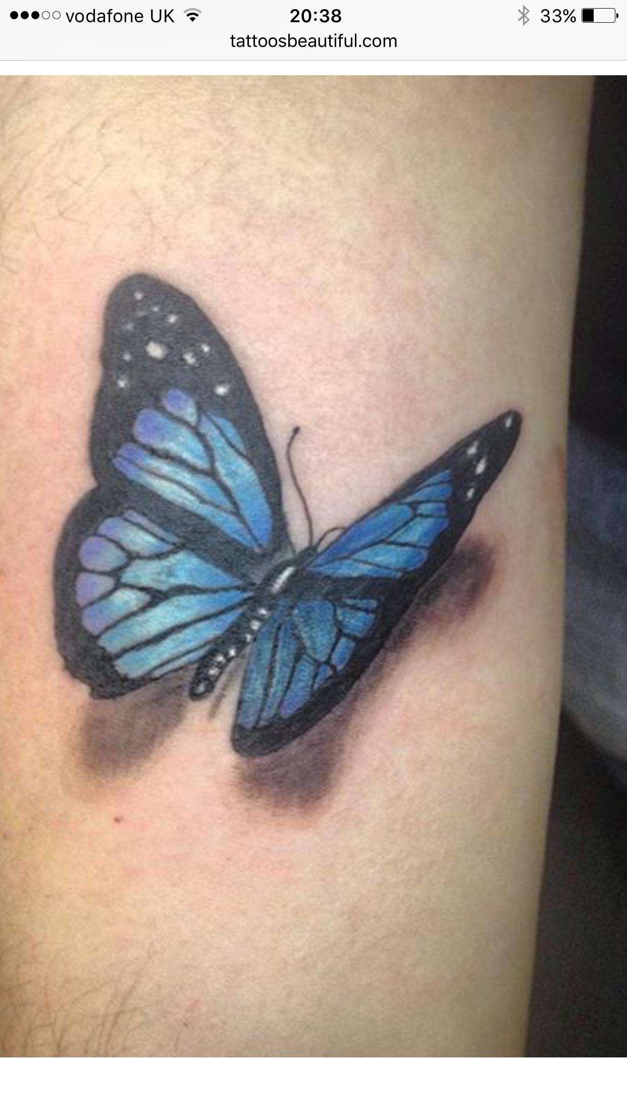 Pin de Jada Storm en New Tattoo Mariposa azul tatuaje