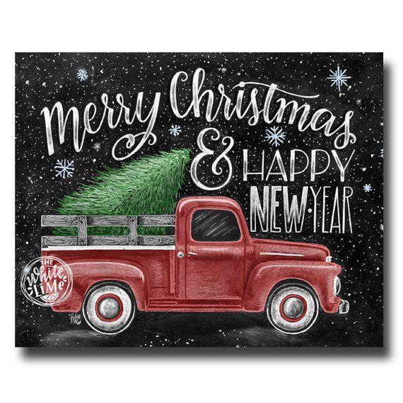 Photo of Ähnliche Artikel wie Frohe Weihnachten Zeichen, Frohe Weihnachten & glückliches neues Jahr, Tafel Kunst, Kreide Kunst, Weihnachts-Dekor, Vintage Truck, Weihnachtskunst auf Etsy