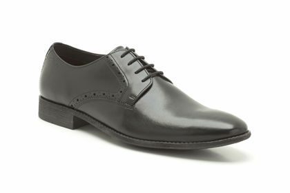 Mens Formal Shoes in Black Leather - Chart Walk from Clarks shoes