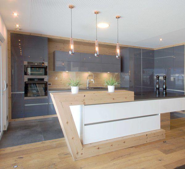 Wohnküche Kücheninsel: Kuchnia Drewno In 2019
