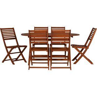 Buy Argos Home Newbury 6 Seater Wooden Patio Set   Patio ...