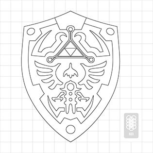 Hylian Shield Blueprint Things To Build Pinterest Legend Of