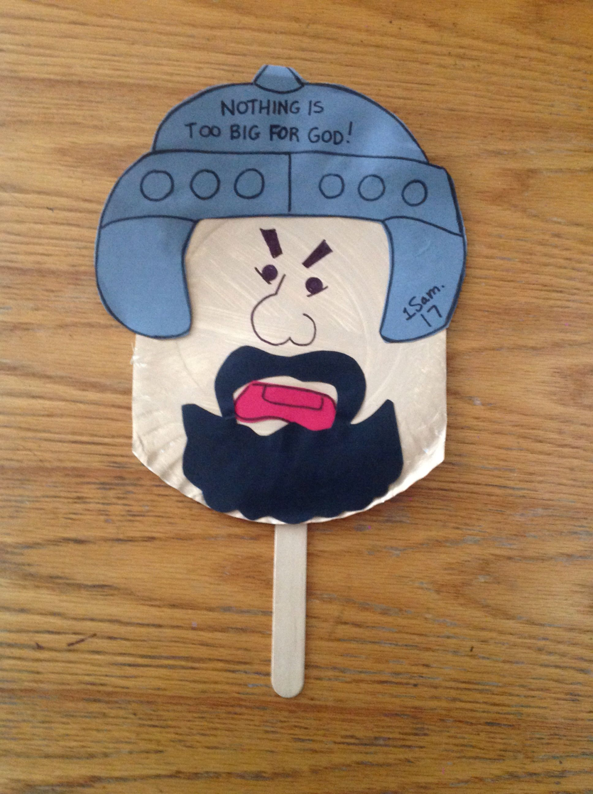 Goliath bible craft bible crafts by let pinterest for David and goliath craft