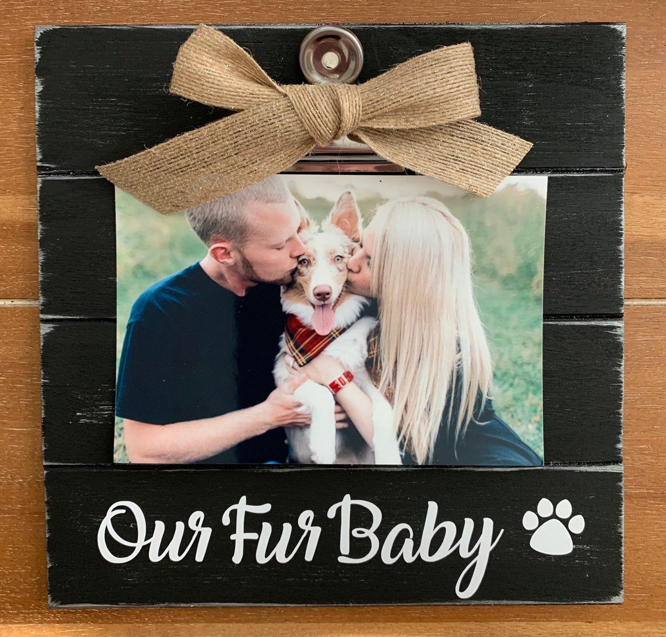 Excited to share this item from my #etsy shop: Pet Frame -Our / MyFur Baby or Our / My Fur Babies- Wood Picture Frame - Rustic Look #birthday #mothersday #doglover #catlover #catframe #furbaby #frame #rescuedog