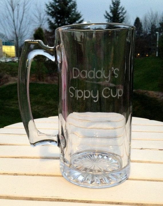 Etched Beer Mug Daddy S Sippy Cup Great Gift For By