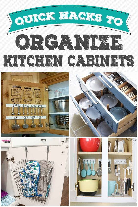 10 Simple and Quick Hacks To Organize Kitchen Cabinets That Are Beyond Genius #cabinetorganization