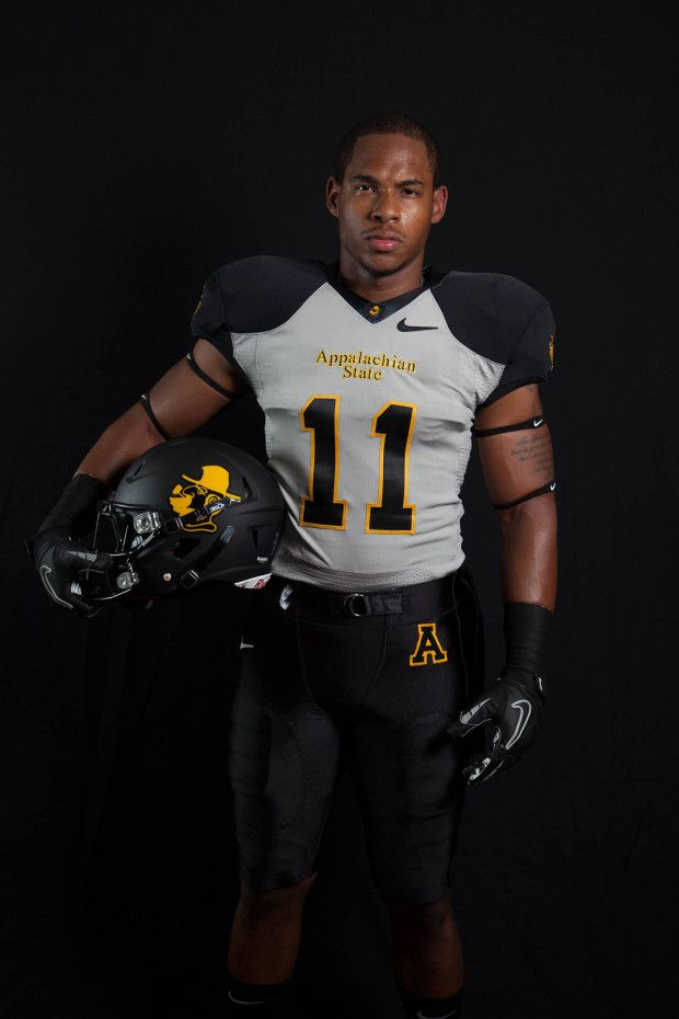 2013 Appalachian State Alternate Gray Yosef Uniforms Football Helmets Football New Outfits