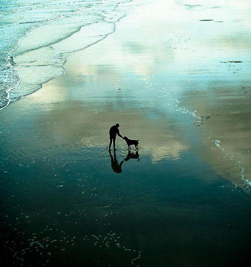Beach and sky reflection