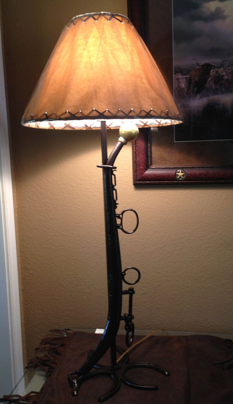 Horse Shoe And Hame Table Lamp Without Shade Western Rustic Country