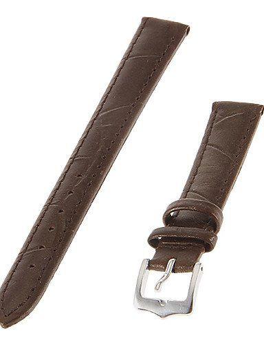 Frauen-14mm Echtes Leder-Uhrenarmband (braun) - http://uhr.haus/weiq/frauen-14mm-echtes-leder-uhrenarmband-braun