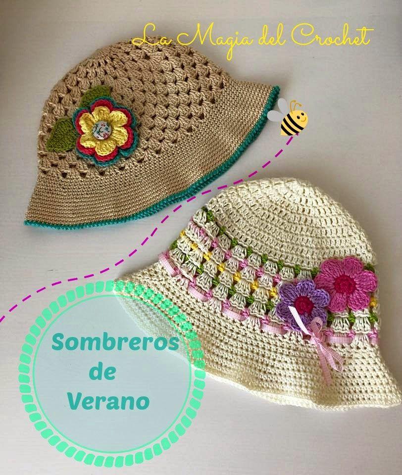 Patrones Crochet, Manualidades y Reciclado: SOMBRERO DE VERANO PASO ...