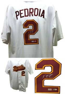 Dustin Pedroia Autographed ASU Arizona State Baseball Jersey MLB COA Dustin  Pedroia autographed Ariz signed autographed 167a59c8558