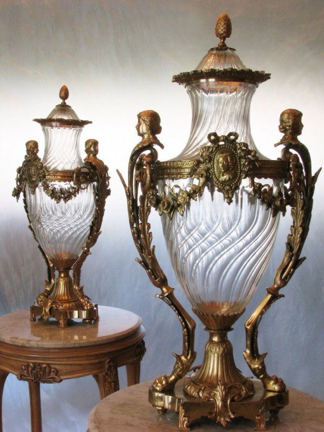 A Large Pair Of Signed Baccarat Vases On Pinterest Glass Urn
