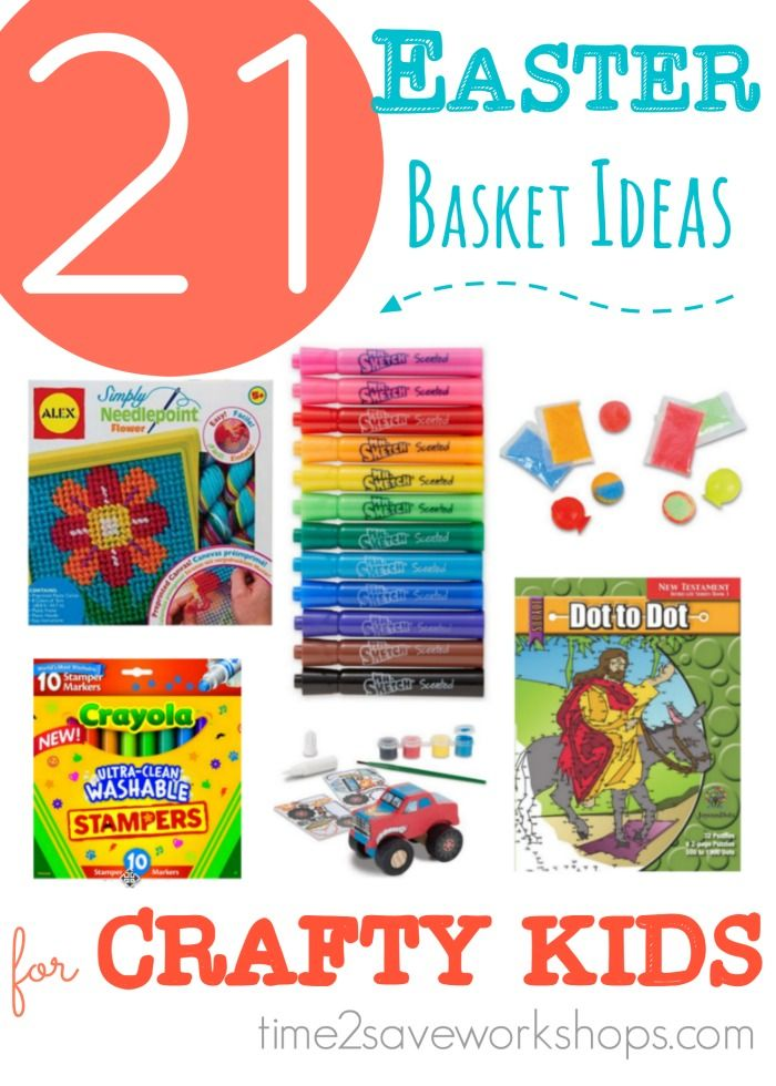 Feed their creativity with this fun list of 21 easter basket ideas 21 cheap easter basket ideas for artsycrafty kids kasey trenum negle Choice Image
