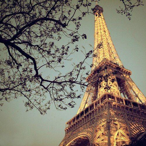 Springtime Eiffel Tower