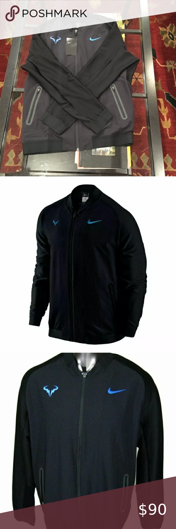 Nike Rafa Nadal Premier Tennis Jacket M 728986 010 In 2020 Jackets Nike Black Nikes