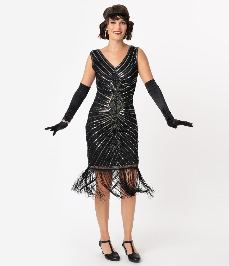 Unique Vintage Black Silver Sequin Dacquoise Cocktail Flapper Dress In 2021 Flapper Dress Beaded Flapper Dress Flapper Style Dresses [ 1023 x 879 Pixel ]
