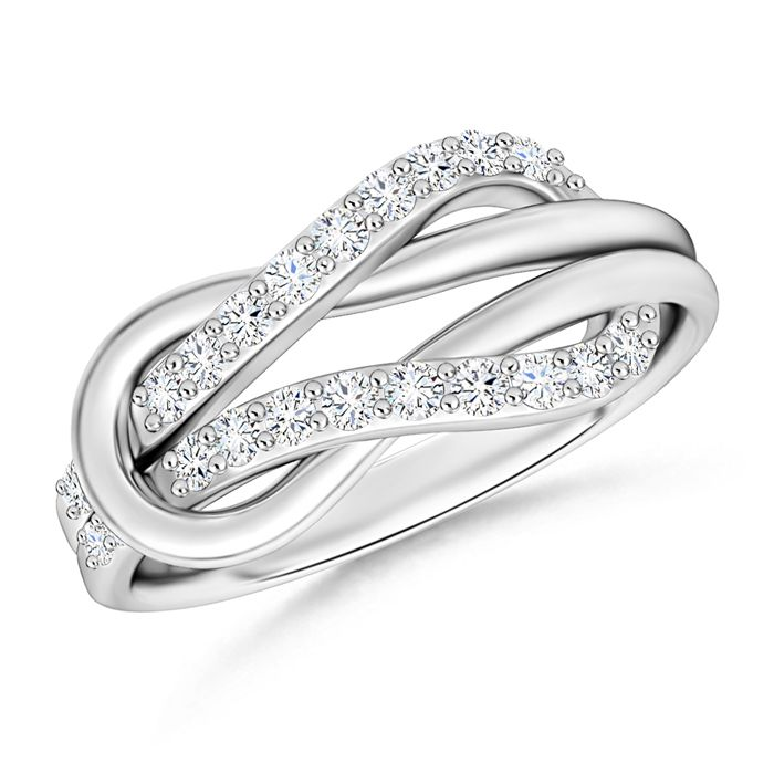 Angara Emerald Encrusted Loop Knot Ring 26Ugac
