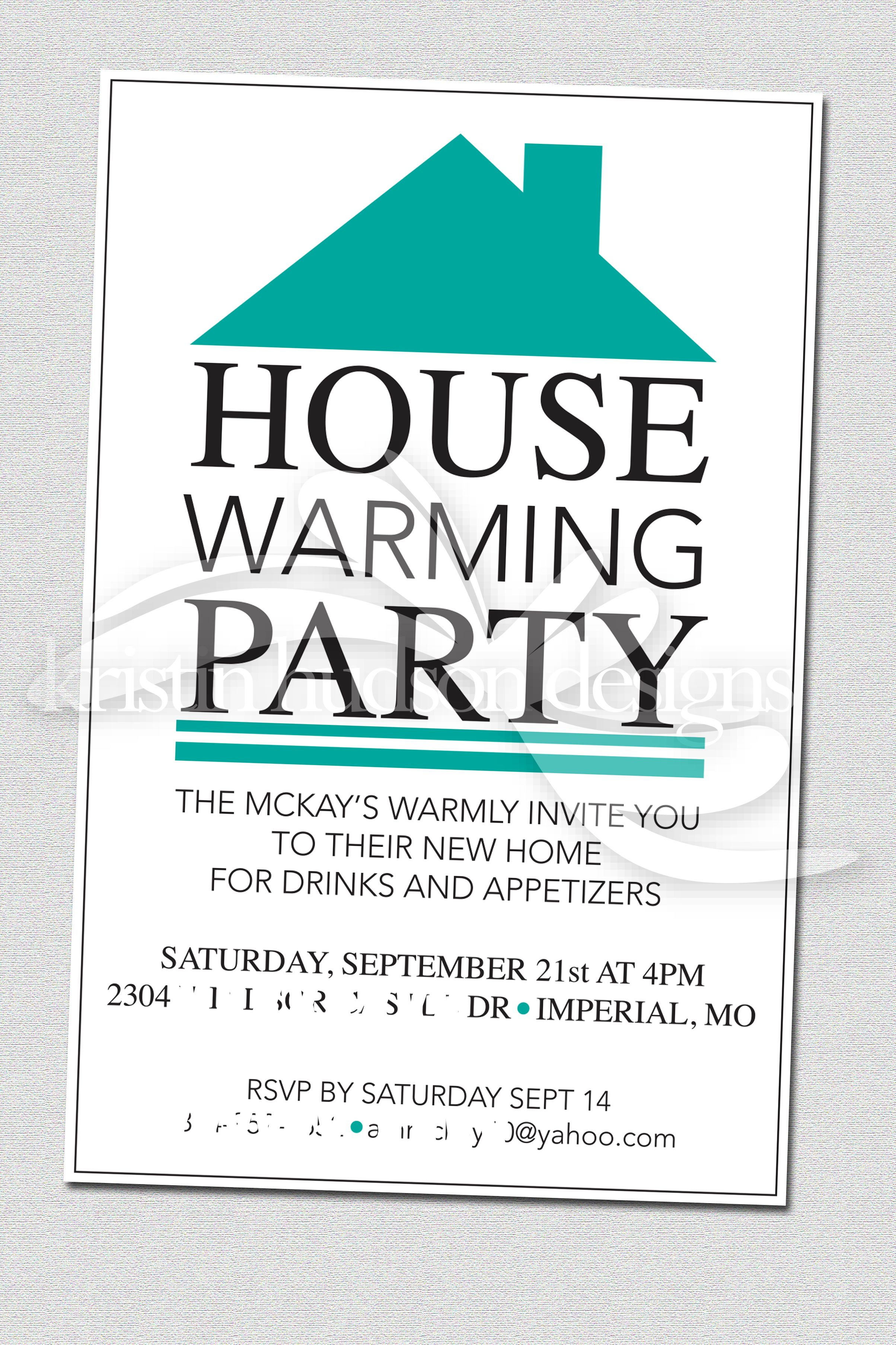 House Warming Party Invite Designs By Kristin Hudson Invitations
