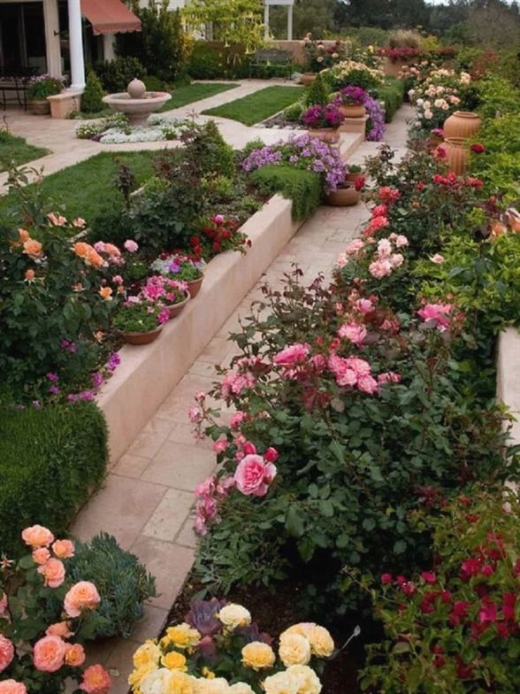 Stunning Rose Garden Design Ideas is part of Small Rose garden - There are several different rose garden design ideas that can make for a picturesque view in yard  The formal, traditional rose garden design is laid out geometrically
