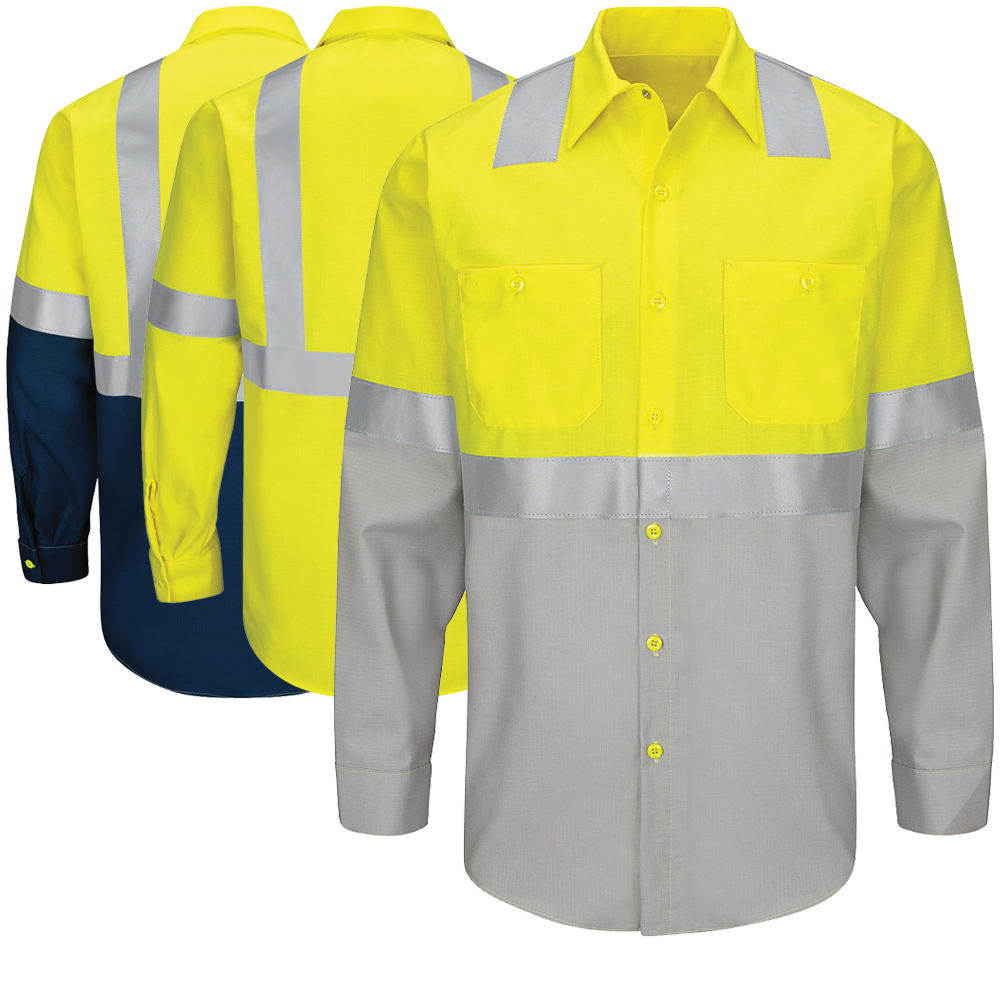 Red Kap Sy14 Class 2 Long Sleeve Work Shirt Work Shirts Red Kap Shirts