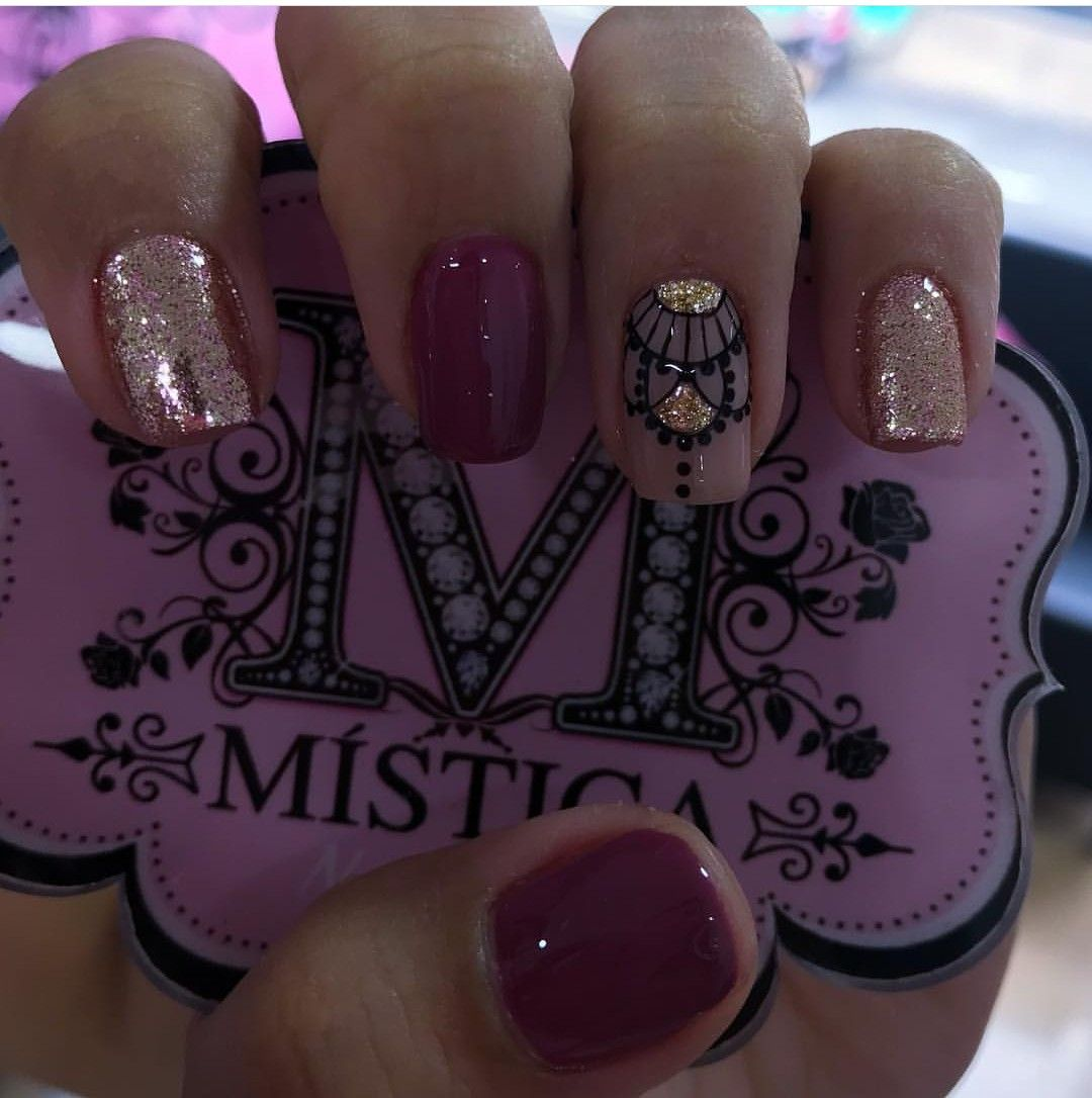 Uñas Semipermanentes Decoradas Pin De Kiara Aldana En Nails Manicure Nail Designs Y