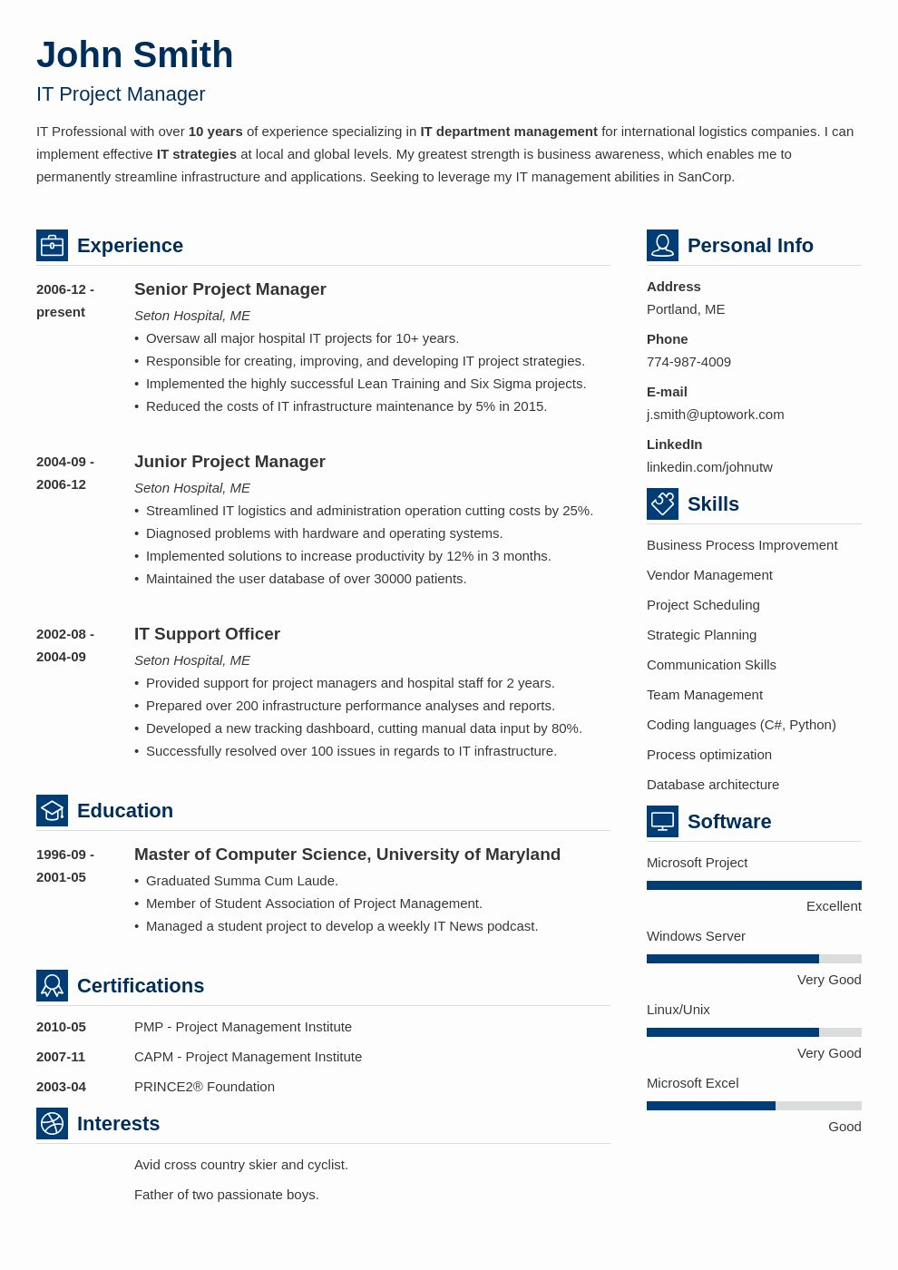 40 Professional Resume Template Free in 2020 Best resume