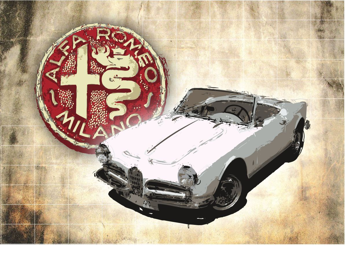 Alfa Romeo Giulietta Spider limited edition print - available on www.fuelledgraphics.com