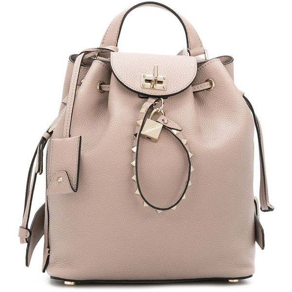 c1768de7352 Valentino Valentino Garavani backpack ($2,595) ❤ liked on Polyvore  featuring bags, backpacks, valentino backpack, logo backpack, day pack  backpack, brown ...