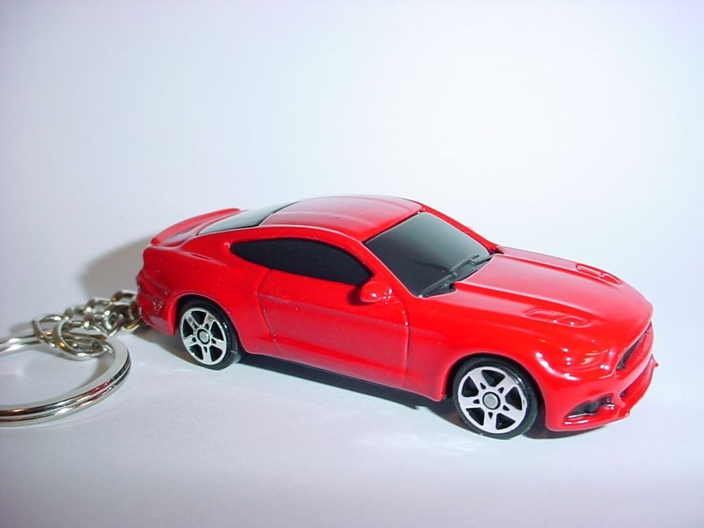 New 3d Red 2015 Ford Mustang Gt Custom Keychain Keyring Key Gt