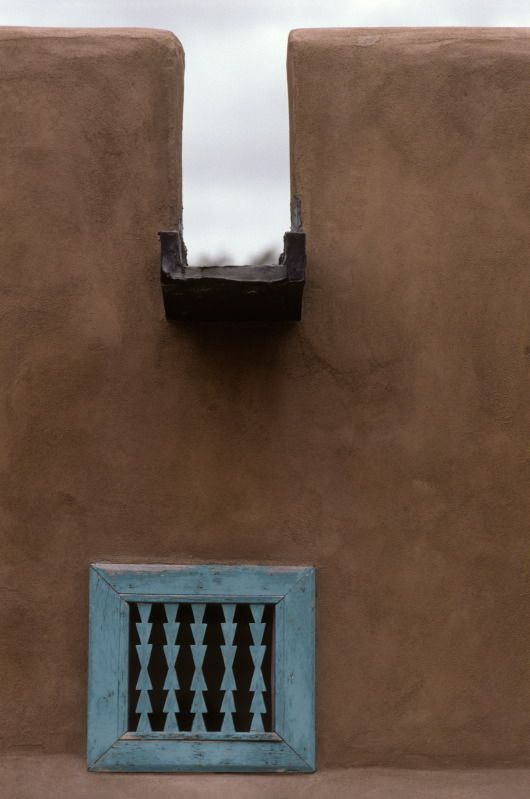 Water Spout On The Flat Roof Of An Adobe House In Nambe Pueblo New Mexico C Michael Freeman