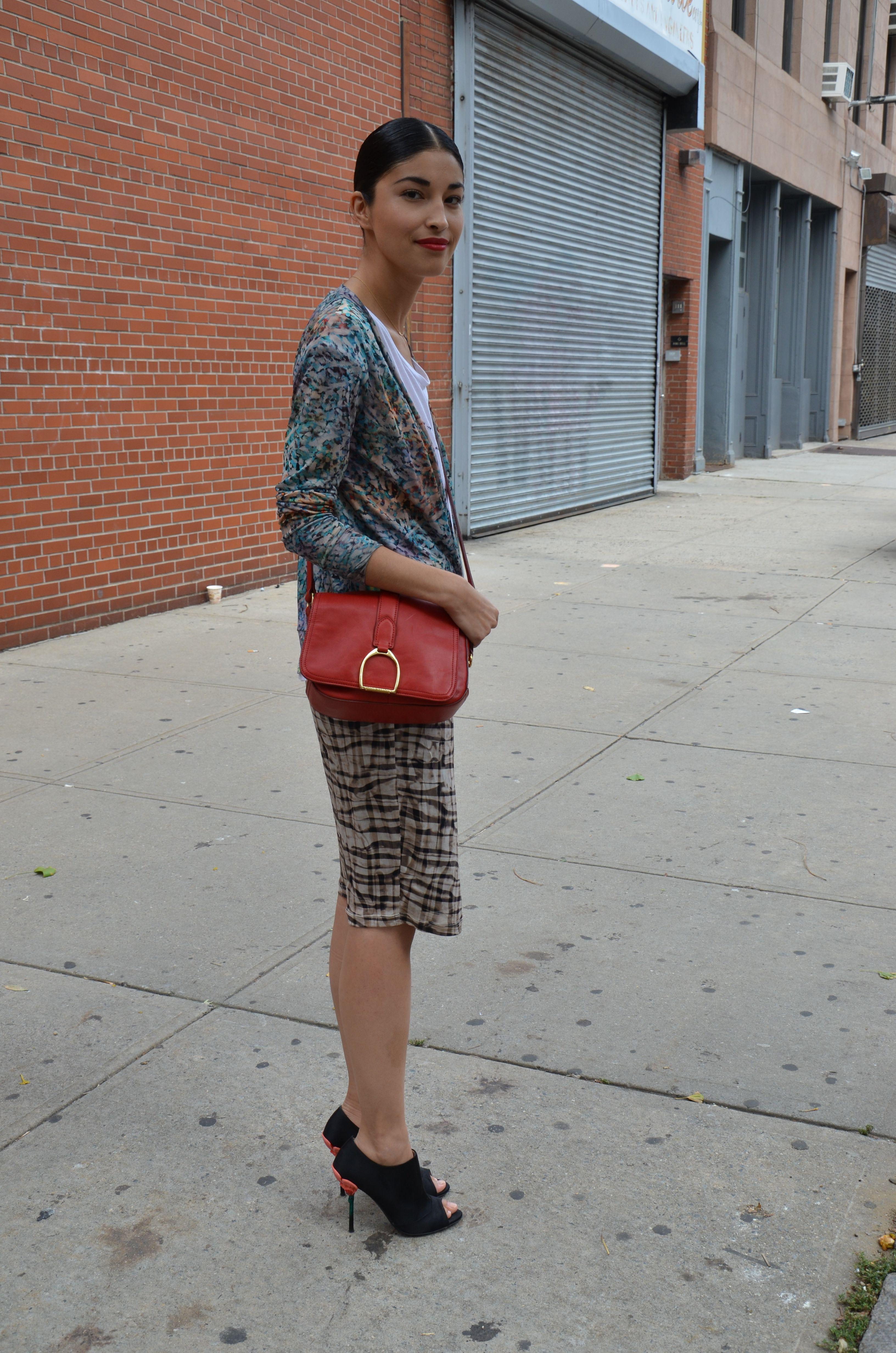 Caroline Issa after the Ralph Lauren SS2012 show.  New York, September 2011.