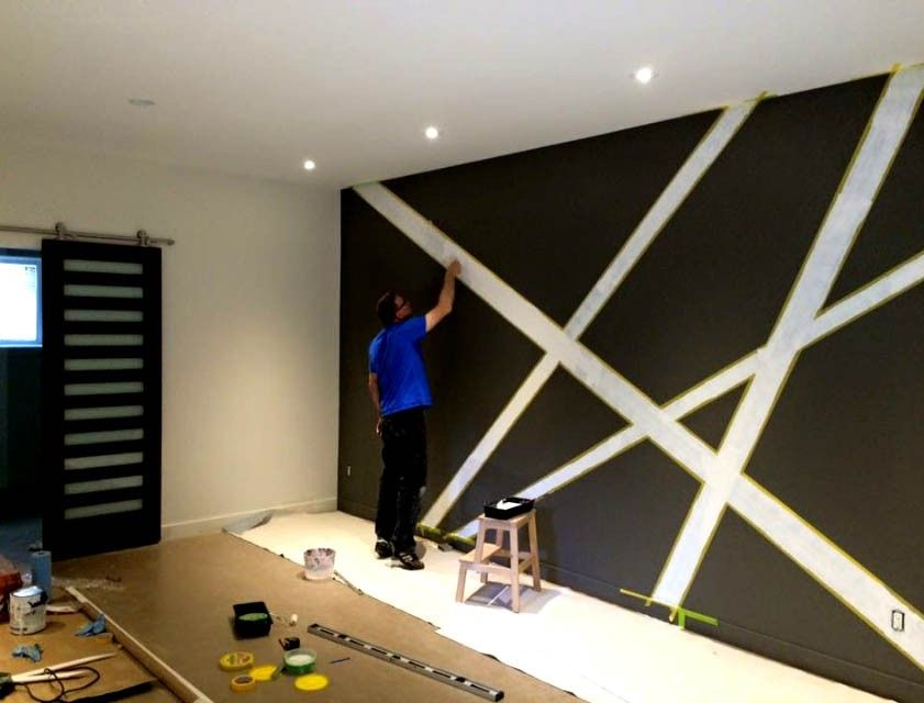 R novation pour salon ou bureau parement mural en 2019 - Peinture pour mur de garage ...
