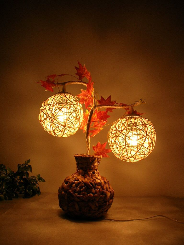 Furniture Novelty Rustic Table Lamp Decoration Light Straw Braid Lighting Small Christmas Gift New 2017 Lamp Decor Decorative Table Lamps Rustic Table Lamps