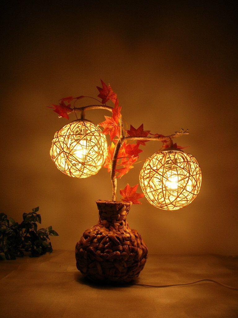 lamp decoration light straw braid