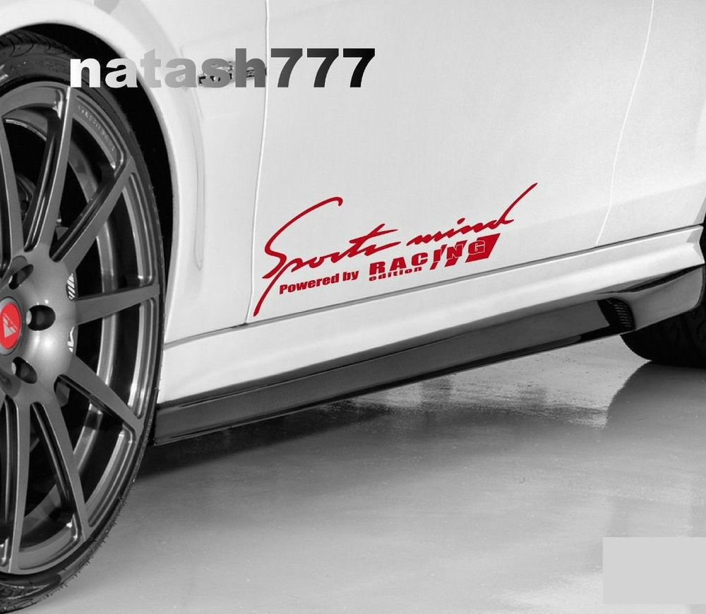 2 Sports Mind Powered By Racing Edition Decal Sticker Logo Red Fits Ford Natash777 Car Decals Vinyl Logo Sticker Decals Stickers [ 870 x 1000 Pixel ]