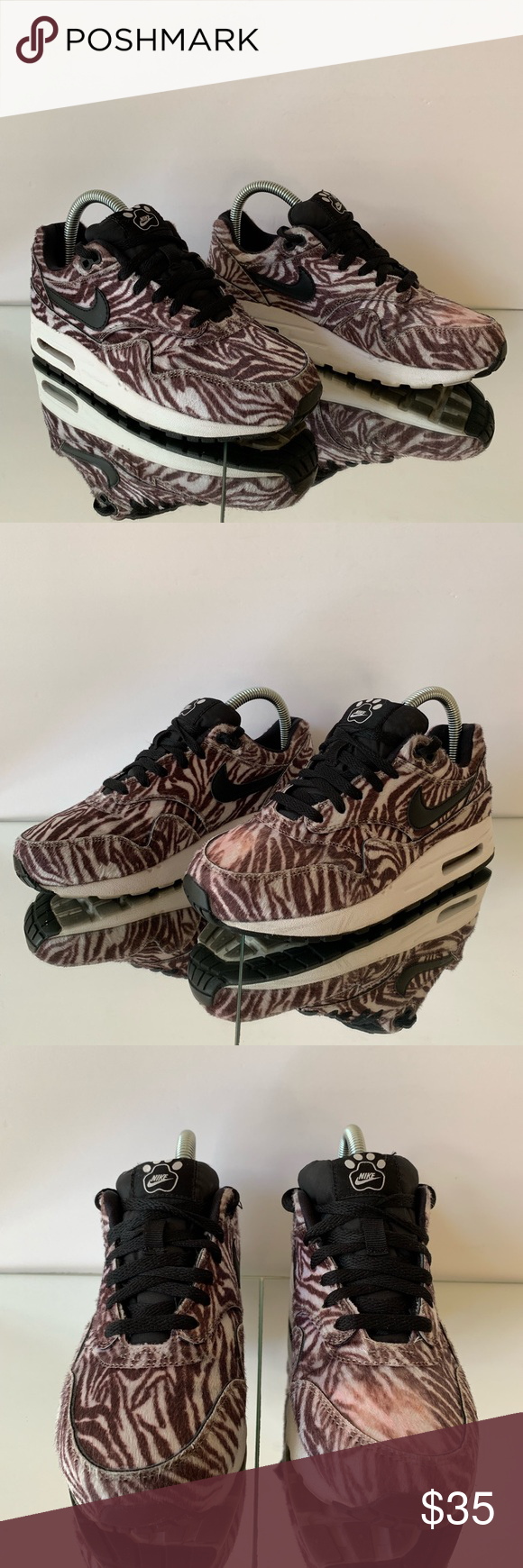 buy popular a0163 5e79b Nike Air Max 1 QS Zoo Pack Zebra Size 5.5Y Great looking Air Max 1
