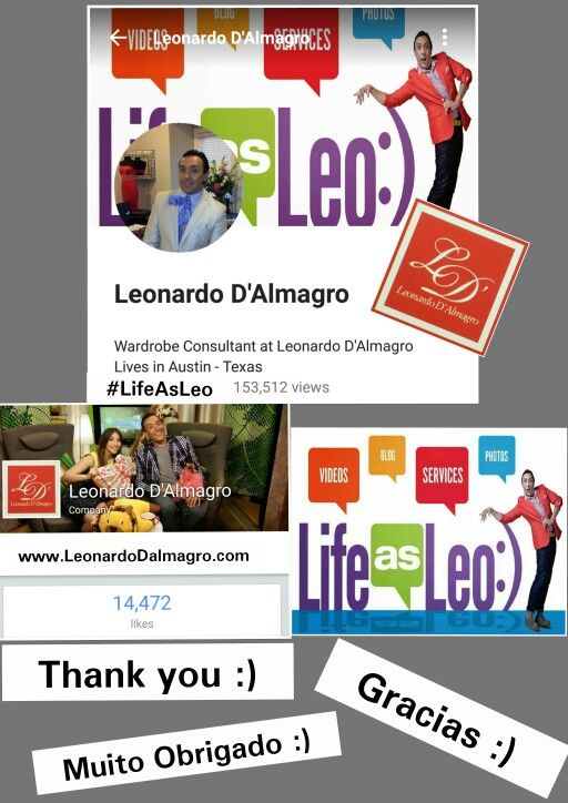 Step by step the presence of my business is growing, and it's thanks to each of you for all of  your wonderful support. Thank you  thank you so much :).   www.LeonardoDalmagro.com #LifeAsLeo  Paso a Paso la presencia de mi negocio esta creciendo, y es gracias a cada uno de ustedes por todo su apoyo extraordinario. Gracias muchas muchas gracias. :)  #thankyou #thankful #business #fashion #fgi #harperbazaar #univision #media #tv #influentialmagazine #latism #fashionmarketing #fashionpr…