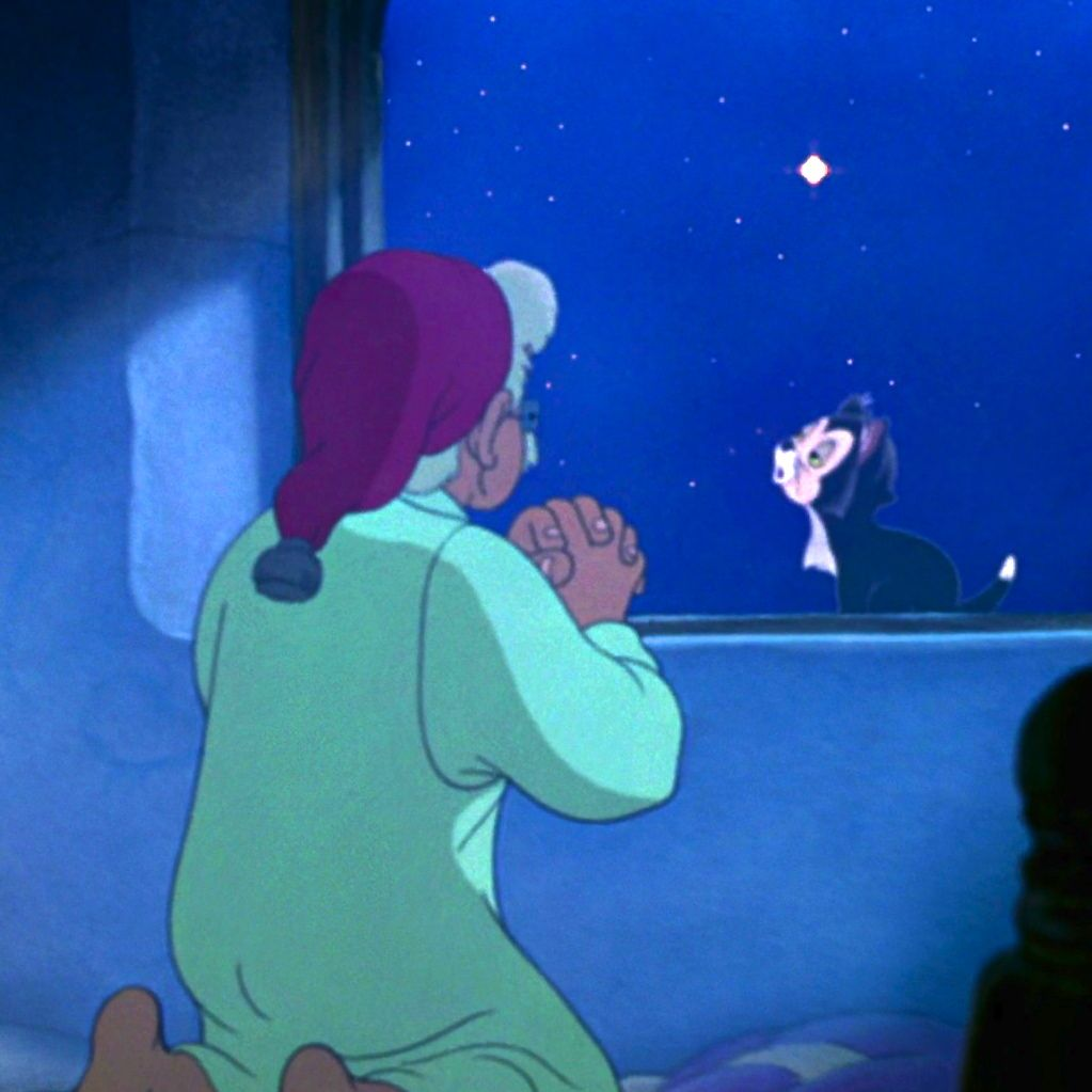 *MR. GEPPETTO & FIGARO ~ Pinocchio, 1940....wishing star. This is how I was until Li got my little Lady bug