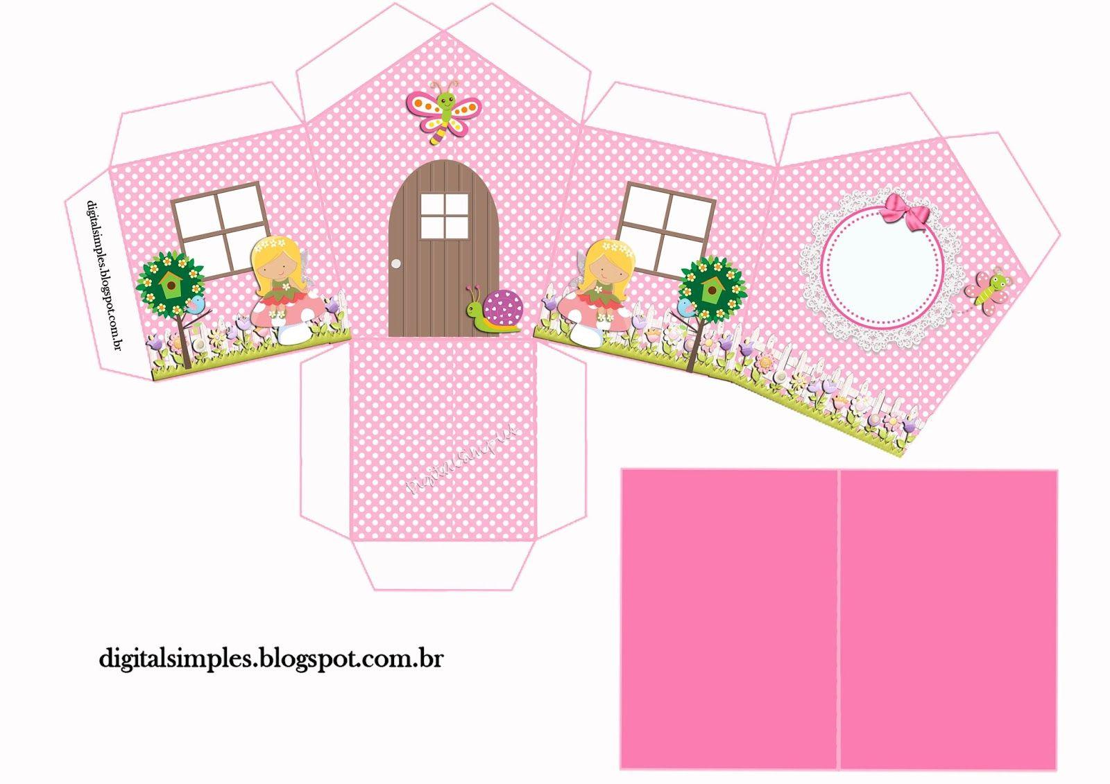 Kit Personalizados Jardim Encantado Para Imprimir Caixa De