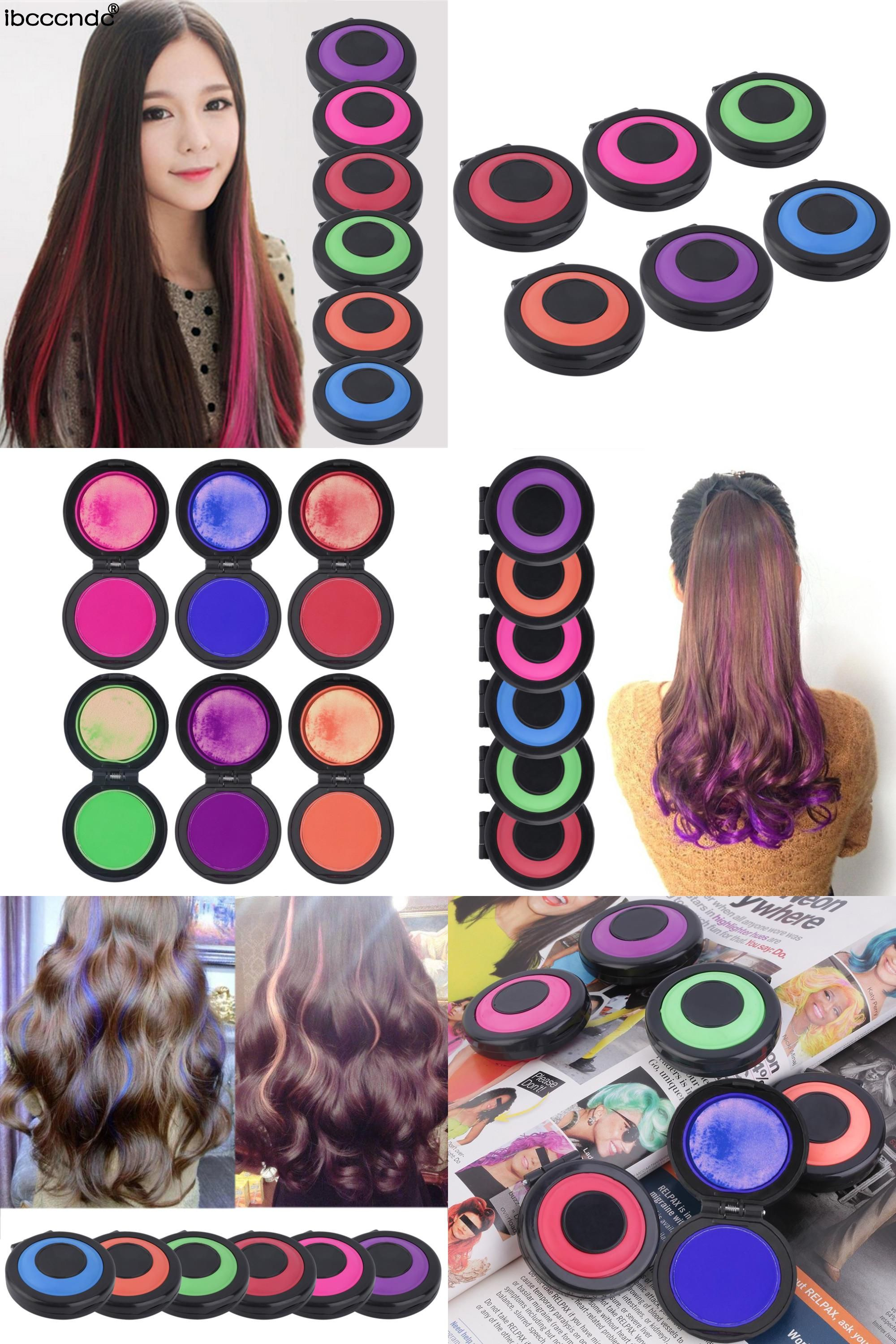 Visit to buy new professional 6 colors temporary hair dye powder visit to buy new professional 6 colors temporary hair dye powder cake styling hair solutioingenieria Gallery