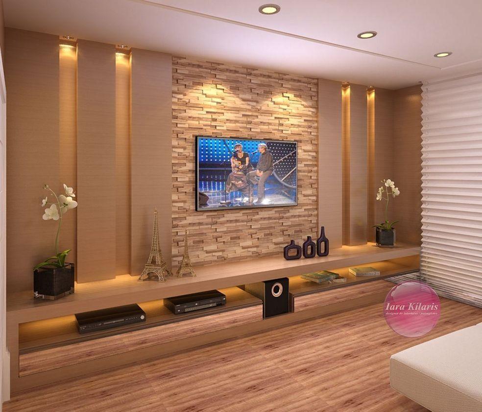 53 Adorable Tv Wall Decor Ideas Roundecor Tv Wall Design Tv Wall Decor Living Room Tv Wall