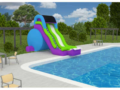 Feel Like Your At A Water Park With This Pool Side Slide This New And Exciting Big Summer Splash Is A Perfect Additi Inground Pool Slides Inflatable Pool Pool