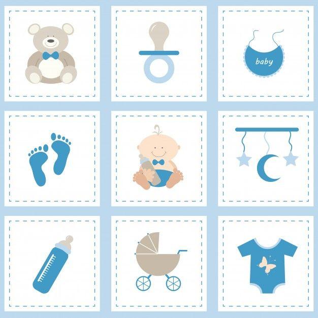 do ícone do bebê definido para o menino | Vorlagen