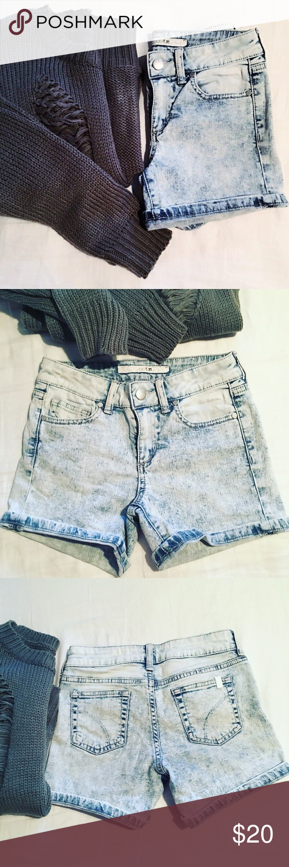 Joe's jean shorts for girls ✔️ Joe's Jean shorts for girls✔️size 8, cuffed legs, slight high rise in the waist, 11 inch waist, 12 inch L from backside (waist) to bottom leg, 10inch L from front waist (button) to bottom leg. 98% cotton, 2% spandex. Pre owned  in excellent condition!👍🏼 offers welcome💛no trades thank you Joe's Jeans Bottoms Shorts