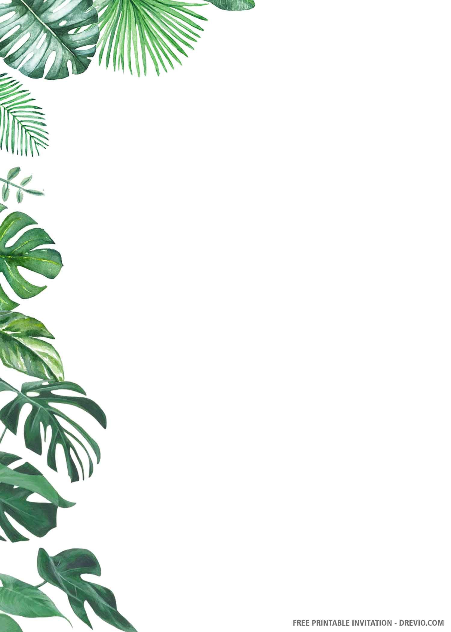 (FREE PRINTABLE) – Cora Tropical Palm Wedding Invi